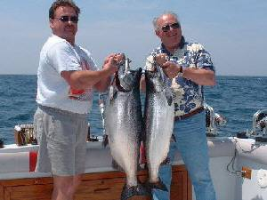 38 AND 27 pound Lake Ontario King Salmon